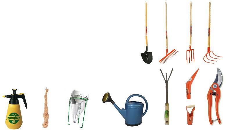 Les outils de jardinage